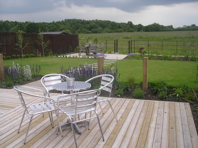 garden design for large garden at woodlesford leeds - Garden Design Knaresborough