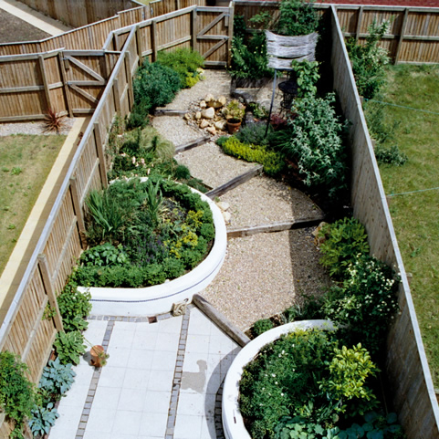 Garden layout designs small large courtyard gardens for Jardines disenos