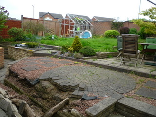 Garden before garden design and landscaping in South Leeds, Yorkshire