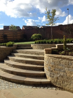 garden landscaped in South Leeds, Yorkshire