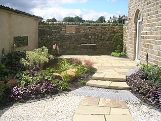 Tithe Petersfield also Split Level Back Gardens further Before And After together with Choosing Your Box Hedge Or Border further Garden Edging Ideas. on small walled garden design ideas