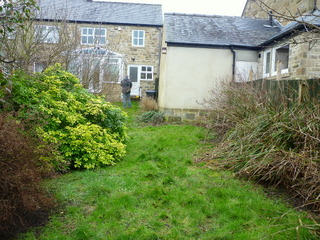 Garden before garden design and landscaping near Keighly, North Yorkshire