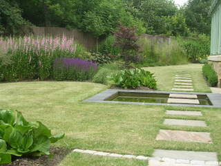 garden landscaping with prairie planting for garden in Leeds Yorkshire