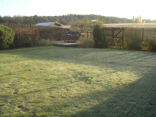 Large Back Garden at Woodlesford, West Yorkshire Before Design