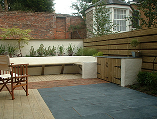 garden landscaping for a courtyard garden in York by Paperbark Garden Design