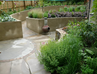 sloping garden at roundhay leeds after design - Garden Design Knaresborough