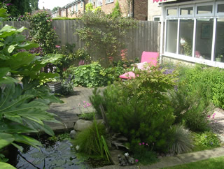 garden landscaping for a courtyard garden in Knaresborough by Paperbark Garden Design