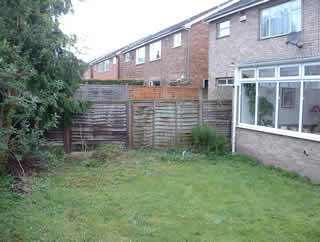 Small Back Garden Before Design at Knaresborough, North Yorkshire