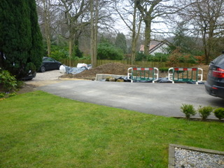 garden terrace at roundhay leeds before landscaping