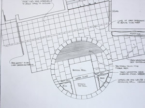 Garden Layout Plan for terace at a Yorkshire garden