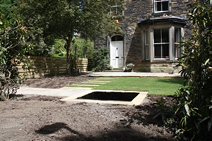 garden Landscaping for garden in Headingley, Leeds. Build is complete, planting next.