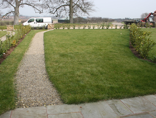 Long Country Garden Before Design at near Selby, North Yorkshire.