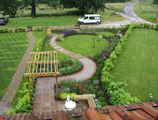 long country garden after design near selby - Garden Design Knaresborough