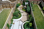 garden landscaping for a mews garden in Chapel Allerton, Leeds by Paperbark Garden Design