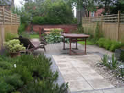 garden landscaping for a long garden in Whitkirk by Paperbark Garden Design