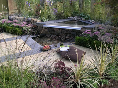 garden landscaping at the Harrogate Flower Show