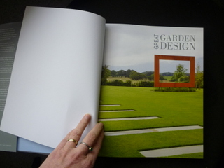Great Garden Design book with Paperbark Frame Sculpture in Yorkshire featured first page