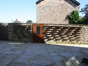 garden landscaping sculpture for a courtyard garden in Wetherby by Paperbark Garden Design