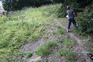 Steep Garden Survey at Baildon, West Yorkshire