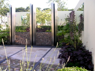 garden landscaping show garden at RHS Tatton by Paperbark Garden Design complete