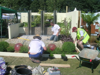 garden landscaping show garden at RHS Tatton by Paperbark Garden Design build