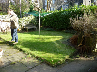 Front Yard Garden at Headingley Leeds, West Yorkshire. Before Design and Build.